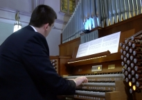 Hybrid Organ Video: Jason M. Gunnell plays: 'Prelude On Sacrament' (Douglas E. Bush).